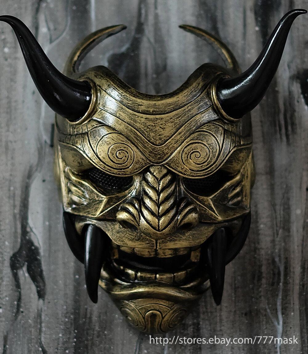 Máscara De Airsoft samurai asesino demonio Oni Disfraz Cosplay mal Hannya Guerrero DA03