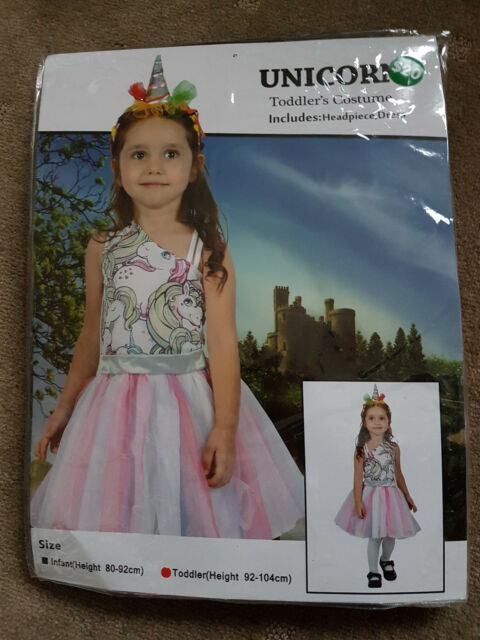 Girls Unicorn Costume - BNWT