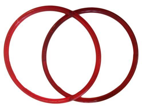 "Pair of 9/"" Translucent Red Marbella Plastic Acrylic Craft Handbag Purse Handles"