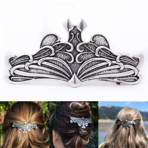 Women-Vintage-Celtic-Barrette-Jewelry-Alloy-North-Vikings-Hair-Clip-Headdress-US