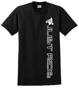 ATV QUAD YOUTH T SHIRT JUST RIDE 4 WHEELER CHILD KID MOTO