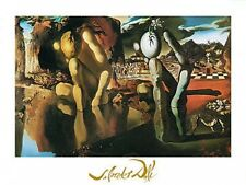Salvador Dali  metamorphosis of narcissus surrealist foil art print 60x80 large