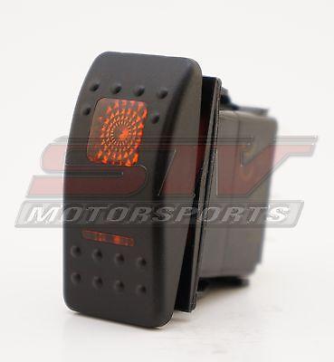 Orang Rocker Switch 3 Position 6 Pin Led Light 20 amp 12 volt UTV Boat Truck SXS