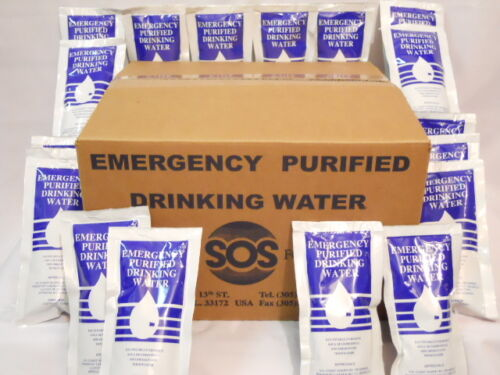 4.227 FL OZ. Emergency Drinking Water 24 packs Survival Rations BOB Disaster