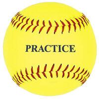 12 Yellow Practice Softball - One Dozen on Sale