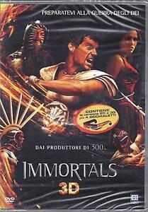 2 Dvd Box **IMMORTALS 3D + 2D** dai produttori di 300 contiene 4 Occhiali 2011