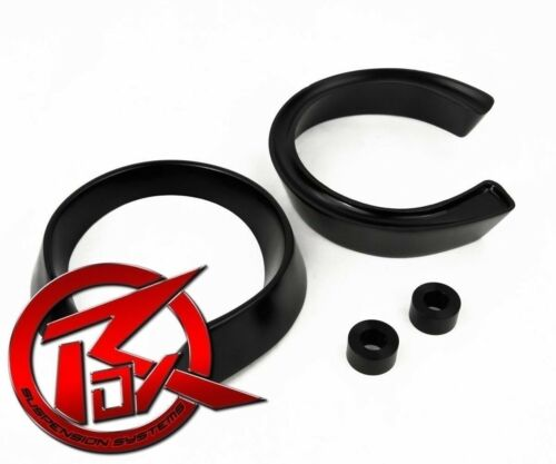 """ROX 2/"""" Front Coil Spacer Lift Level Kit 1988-1998 Chevrolet C3500 GMC 2WD Black"""