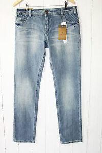 ZIZZI-Jeans-Hose-Sanna-Slim-Stretch-Gr-42-blue-Denim-Destroyed-Neu