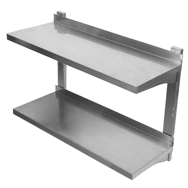 KW, doble parojo bordo parojo estante consola de acero inoxidable-estante para parojo Board 80 cm nuevo