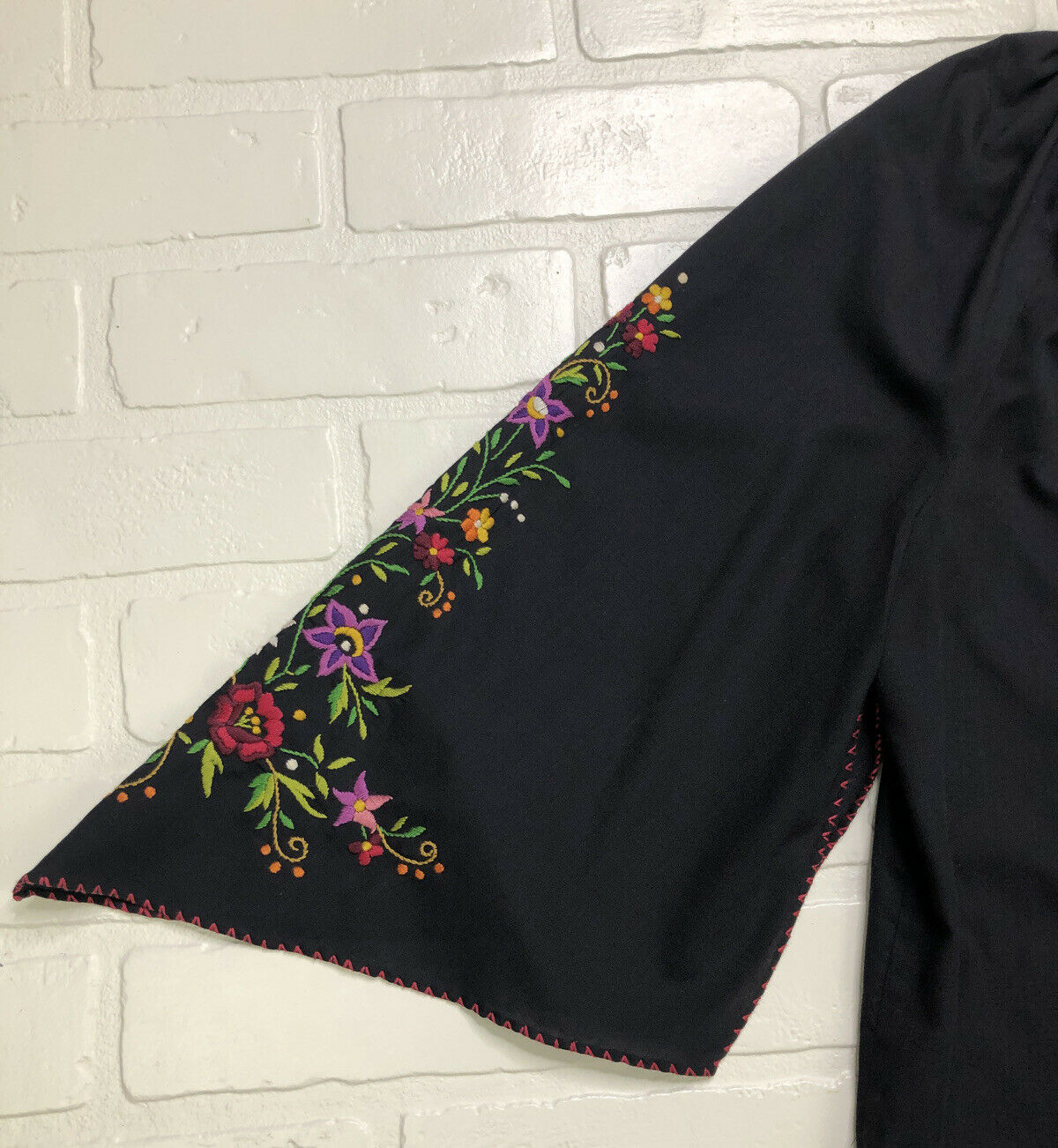 Hungarian Peasant Blouse, Vintage, Hand Embroider… - image 5