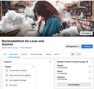 FB Gruppe (5.458 Mitglieder): E-Books, Bücher für Leser und Autoren (Amazon KDP)