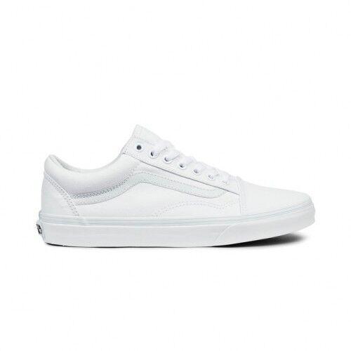 Vans Old Skool Classica Tutta blanco hombres mujer Adulto zapatos ORIGINALI ® ITALIA