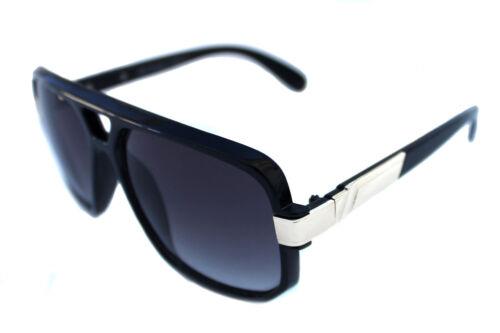 Men/'s Hip Hop 80s Vintage 627 Black Gold Sunglasses Black Lenses RUN DMC Aviator