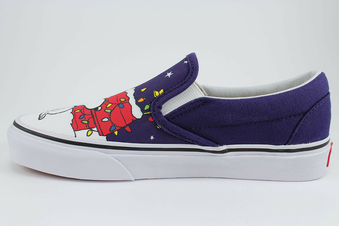 61cd8455d4b781 ... VANS CLASSIC CLASSIC CLASSIC SLIP-ON PEANUTS BLUE WHITE CHARLIE BROWN  XMAS TREE SNOOPY ...
