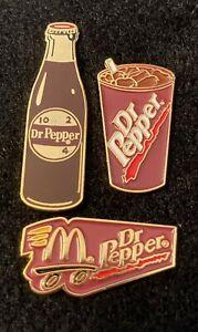 Vintage McDonald's Dr. Pepper Lapel Pins-Set of 3
