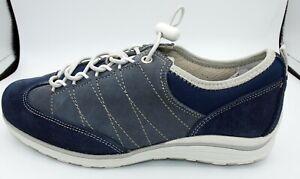 Details zu Naturläufer Schuhe Weite H Sneaker blau Damen Schnürschuhe Neu 1810
