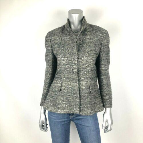 Zanella Coat 10 Wool Blend Dark Gray Tweed Blazer
