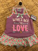 Simply Wag Purple what's Not To Love Dress Puppy/dog Medium