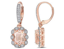Amour Pink Silver CZ & Morganite Earrings