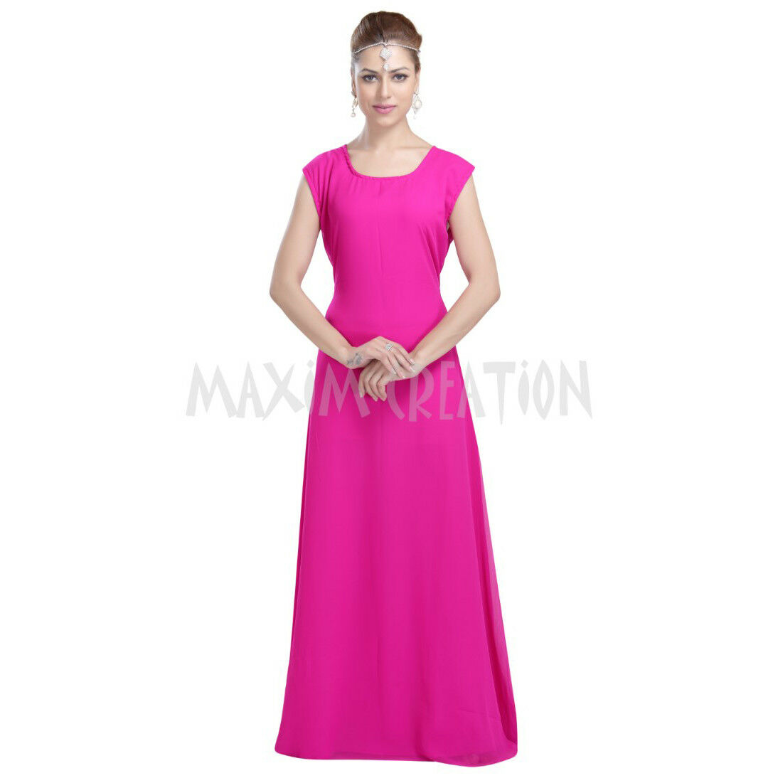 Most Admirable Evening Wear Home Gown For Women's By Maxim Creation 6052