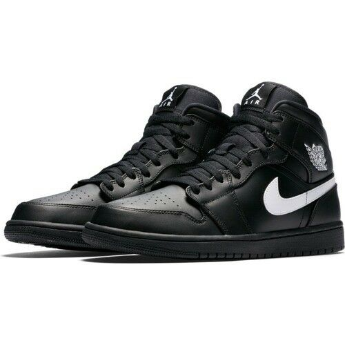 Nike Air Jordan 1 Mi Noir Baskets Baskets Baskets Uk 11.5 ** NEUF en Boîte ** df4988