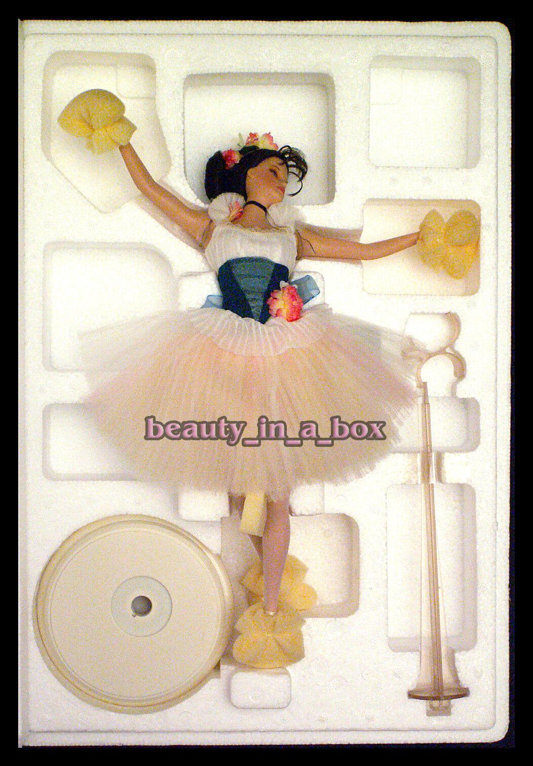 Más ligero que el aire Barbie Muñeca Porcelana Prima Ballerina embarcador Degas Ballet certificado de autenticidad