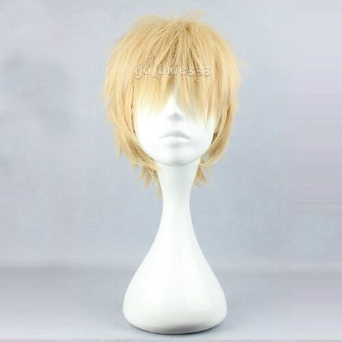 TT1008 Dramatical Murder Noiz Short Layered Blonde Anime Cosplay Hair Full Wig