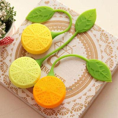 Silicone Drinker Teapot Teacup Herb Tea Leaf Lemon Strainer Filter Bag Infuser