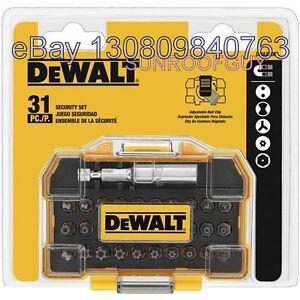 DeWALT-31-pc-Security-Screwdriving-Set-w-Belt-Clip-DWAX200-NEW