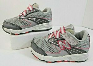 6b8844f5 Details about Kids NewBalance Infant Sneakers Sz 5.5M Bump Toe Hook Loop  Strap KV687SPI Silver