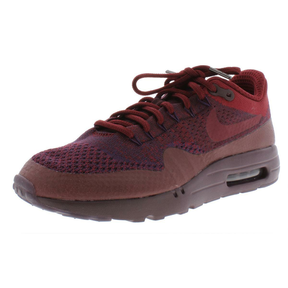 Nike Air Max 1 Ultra Flyknit Grand Purple Red Mens Running Shoes 856958 566 10
