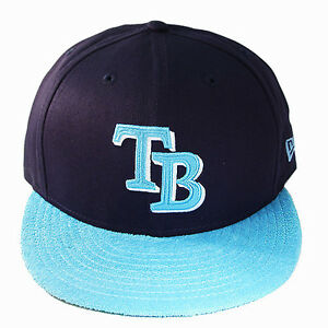 New-Era-MLB-Tampa-Baia-Raggi-Berretto-Baseball-Blu-Navy-Pile-2tone-Colore
