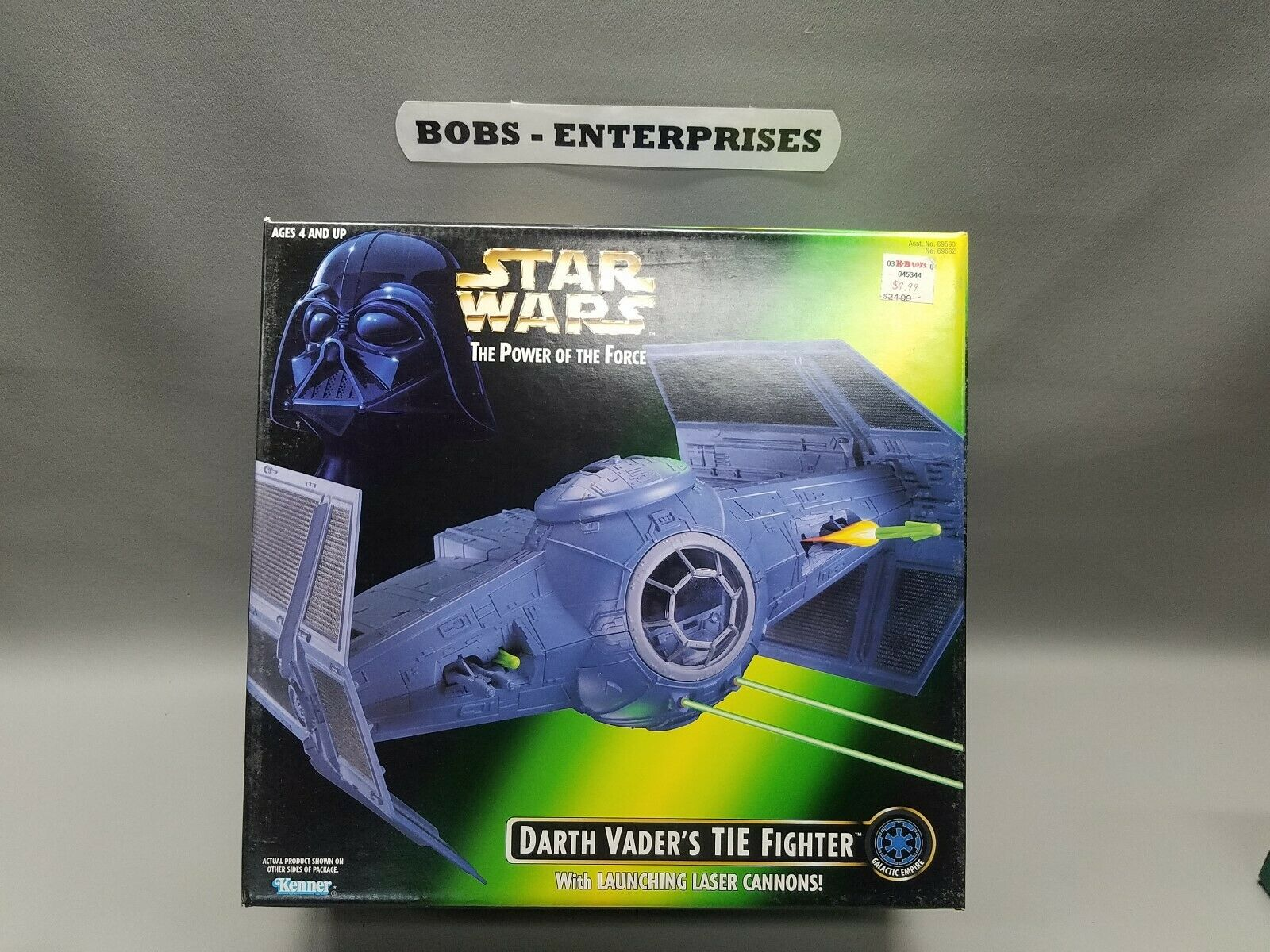 Darth Vader's TIE combatiente MIB estrella guerras POTF2 1996 energia of the Force sw613