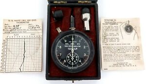 WW2-US-NAVY-JAEGER-PORTABLE-TACHOMETER-BS-MK-XV-43A-1-ORIGINAL-BOX-PAPERS