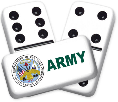 Career Series Army Design Double six Professional size Dominoes