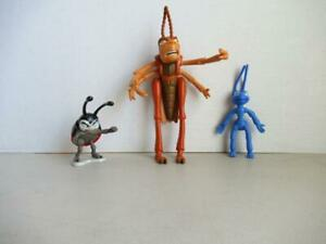 Disney-A-Bugs-Life-Action-Figure-Lot-of-3-Characters-Hopper-Flik-and-Francis