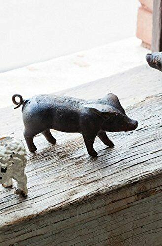 Fun Small Miniature Rustic Primitive Cast Iron Piglet Piggy Pig