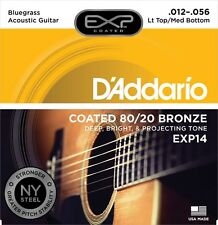 D'Addario EXP14 Coated 12-56 Electric Pure Nickel Guitar Strings EXP Free Ship