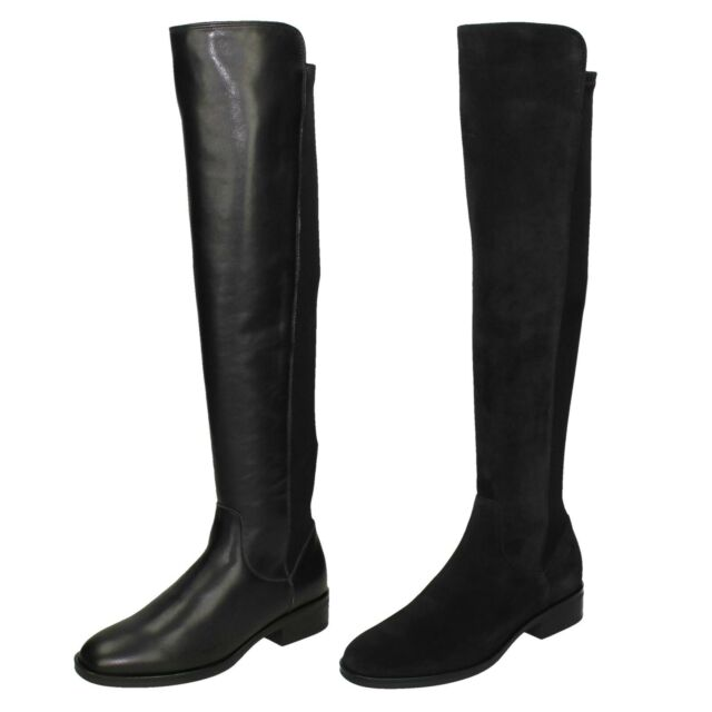 agrio harto cocodrilo  Ladies Clarks Pull on Knee Length BOOTS Caddy Belle Aubergine Suede 4.5 UK  D for sale online | eBay