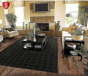 Image Is Loading 5 X 7 Modern Black Diamond Area Rug