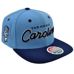 fe4f2d5d470 NCAA UNC Carolina Tar Heels Snapback Zephyr Light Blue Navy Hat Cap ...