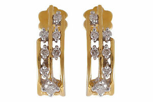 0-32-Cts-Ronde-Brillante-Couper-Diamants-Clous-Boucles-d-039-oreilles-En-750-18K-Or