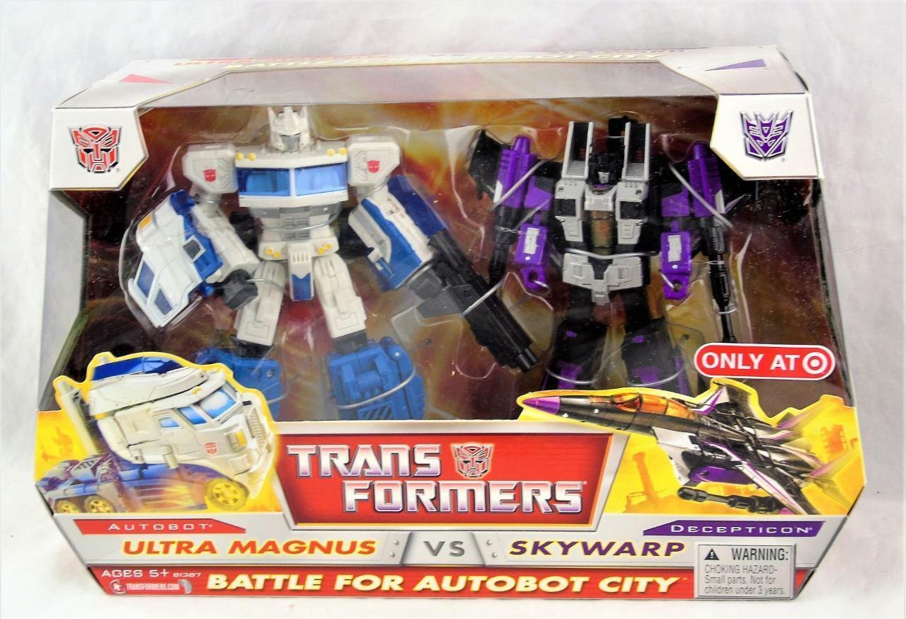 Clásicos de Transformers Robots In Disguise Rid Ultra Magnus vs Skywarp Menta en Caja Sellada