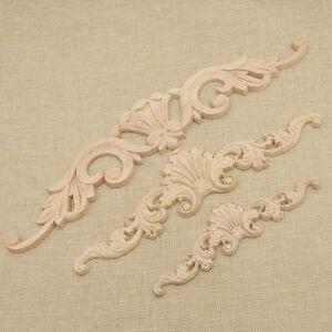 Image Is Loading Flower Design Carpenter Oak Wood Carved Corner Onlay