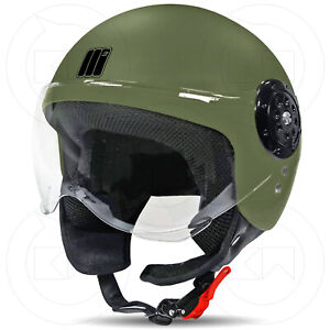 MOTOCUBO-CASCO-JET-MOTO-SCOOTER-UOMO-DONNA-OMOLOGATO-ECER-22-05-VERDE-OPACO