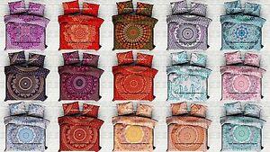 Indian Ombre Mandala Duvet Cover Quilt Reversible Bedding Blanket Set Comforter