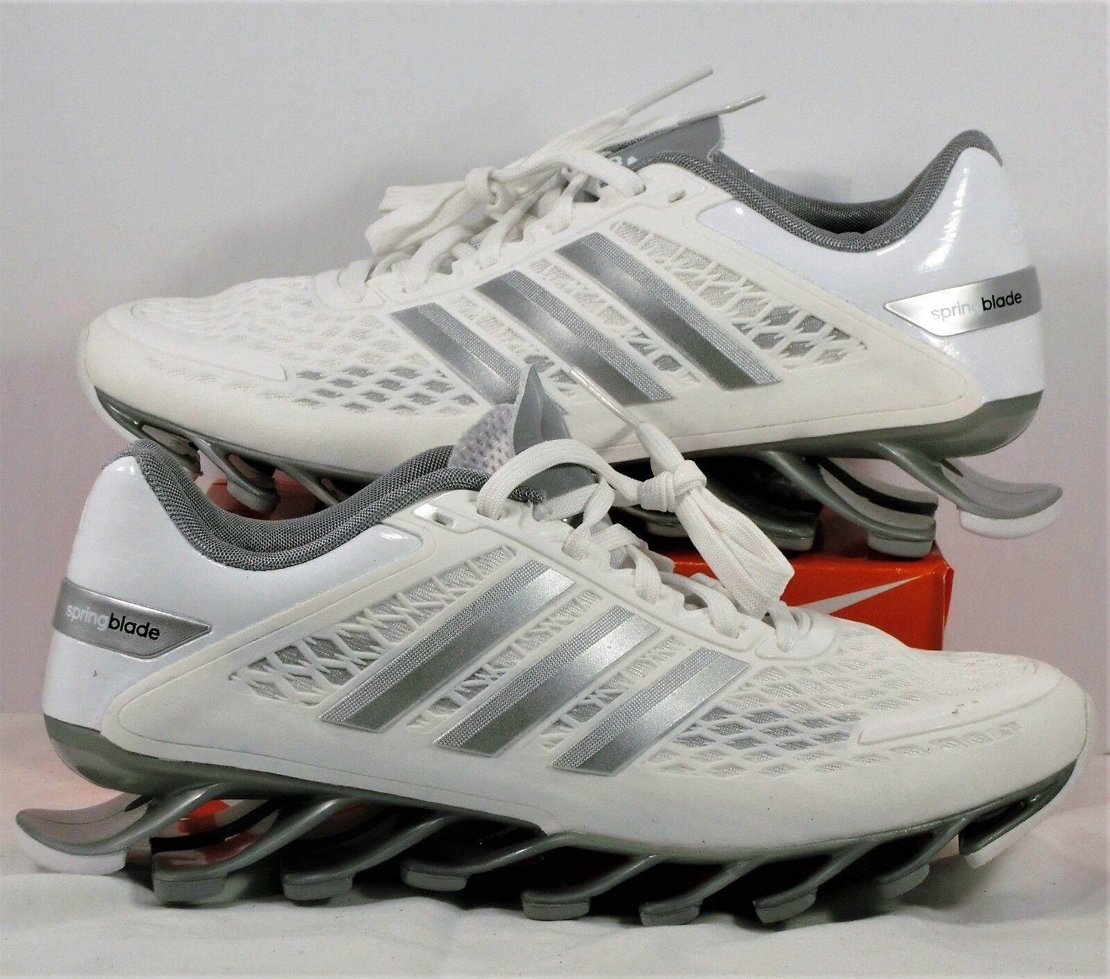 Adidas Springblade Silver Razor White & Grey Silver Springblade Running Shoes Sz 5 NEW M21922 RARE 9e83ae