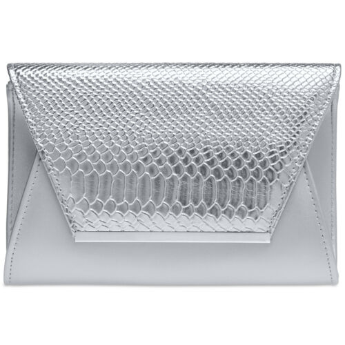 CASPAR TA386 große Damen XL Briefumschlag Clutch Tasche Abendtasche Kroko Muster