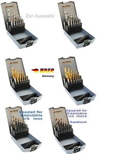 Gewindebohrer-Satz-M-3-M-12-Maschinengewindebohrer-Kernlochbohrer-BAER-Germany