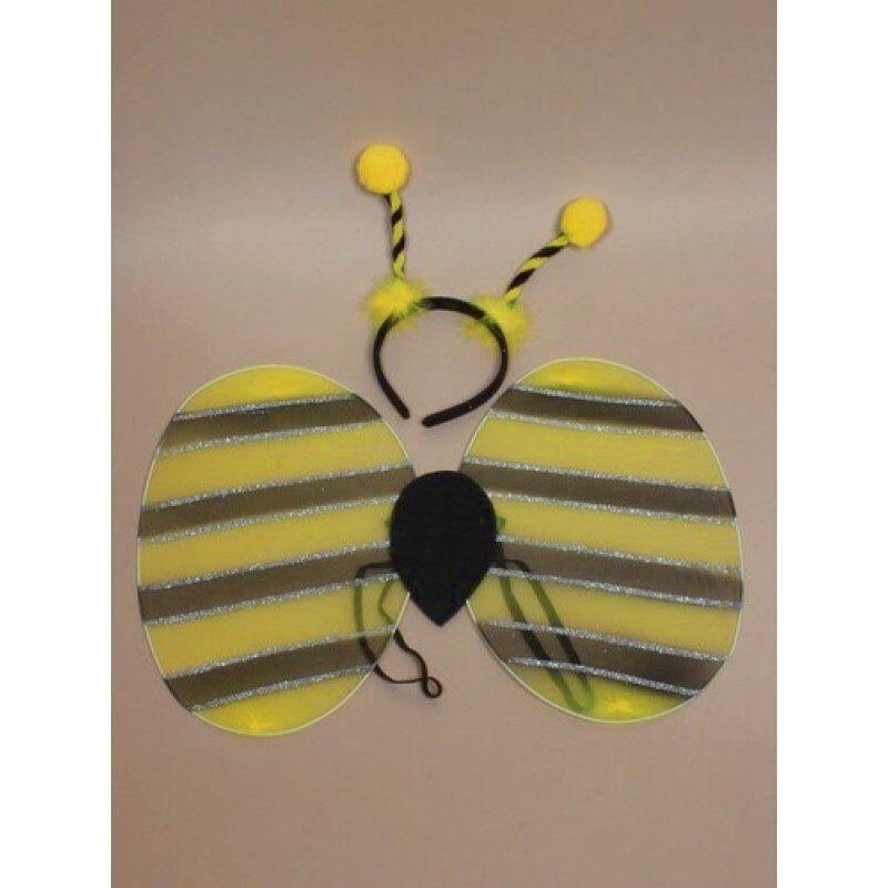 Ladybird set of wings and deeley bopper headband fancy dress kids 50cm x 34cm